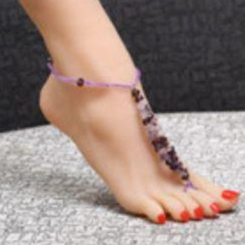 Fashion Elements Barefoot Sandals - Made with Beautiful Crystals