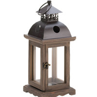 Home Locomotion Decorative Rustic Wood Lantern