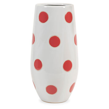 "16"" Essential Polka Dot Vase, Orange, Vases"