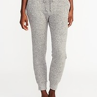 Plush-Knit Lounge Joggers for Women | Old Navy