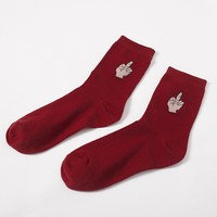 Middle Finger Crew Sock