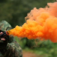 Enola Gaye ORANGE Pyrotechnic SMOKE GRENADE Tactical smoke device GREAT!!!!!