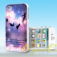 Peter Pan quotes Love Pretty - Print on hardplastic for iPhone 4/4s and 5 case, Samsung Galaxy S3/S4 case.