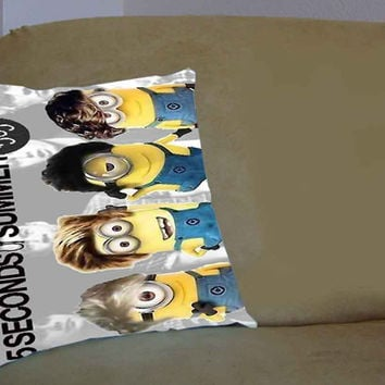 Despicable minion 5 SOS - Pillow Case, Pillow Cover, Custom Pillow Case **