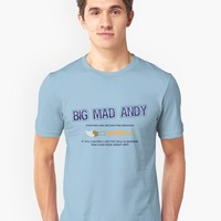'Big Mad Andy - Painting and Decorating' T-Shirt by FlyNebula