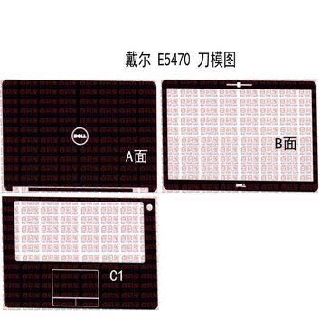 "Special Laptop Carbon fiber Vinyl Skin Stickers Cover guard For Dell Latitude E5470 14"" without pointing and fingerprint"