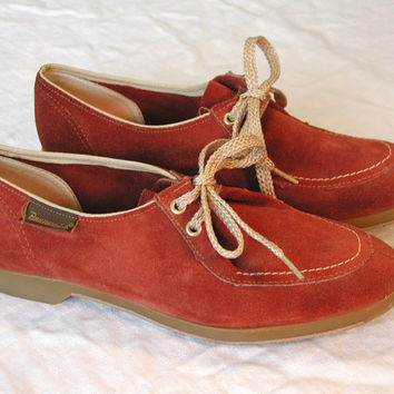 Vintage Brunswick Brown Suede Bowling Shoes Womens Size 6.5 US