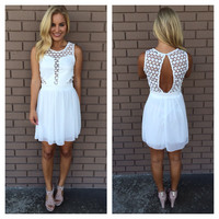 Aliso Babydoll Dress - WHITE