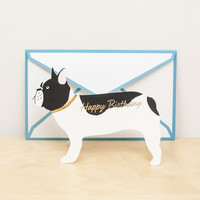 Die Cut French Bulldog Greeting Card