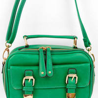 Oh Snap Buckle Bag in Green :: tobi