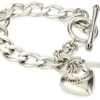 """Juicy Couture """"Charms"""" Silver-Tone Starter Charm Bracelet"""