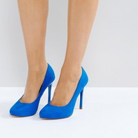Faith Wide Fit Candy Blue Heeled Shoes at asos.com