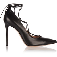 Gianvito Rossi - Lace-up leather pumps