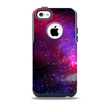The Vivid Pink Galaxy Lights Skin for the iPhone 5c OtterBox Commuter Case