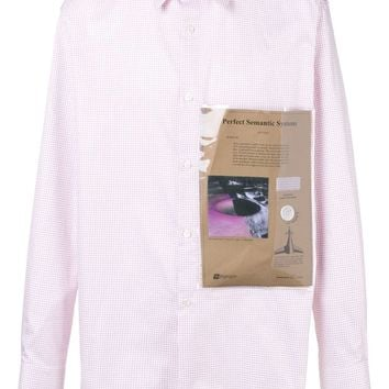 Pink Checkered Button-Up Shirt by RAF SIMONS