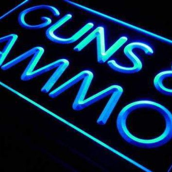 Guns and Ammo Neon Sign (LED)