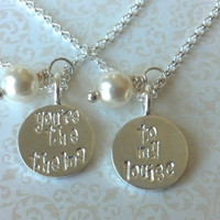 You're the Thelma ..To My Louise ..Best Friend Bracelets-Thai Silver Handstamped Set/Whimsical Font-Gift for Best Friend/BFF Gift