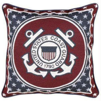 Coast Guard Throw Pillow - One Side Design