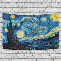 Vincent Van Gogh Starry Night Tapestry Famous Artist Oil Painting Wall Hanging Art for Couches Dorm Room