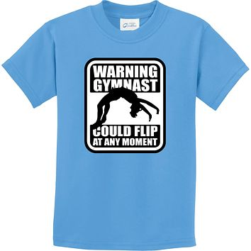 Kids Gymnastics T-shirt Warning Gymnast Youth Tee
