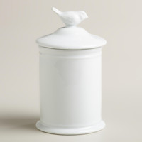 Ceramic Bird Medium Canister - World Market