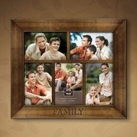 FAMILY CROSSROADS dark walnut collage frame from Prinz - 4x6