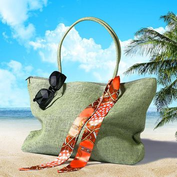 New 2017 Womens Straw Summer Style Woven Shoulder Tote Shopping Beach Bag Purse Handbag straw Beach Bags travel for vacation