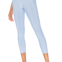 alo Tech Lift High Waist Airbrush Capri in UV Blue