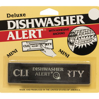 Deluxe Dishwasher Alert w/ Adhesive Backing - Non-Magnetic Clean or Dirty Sign