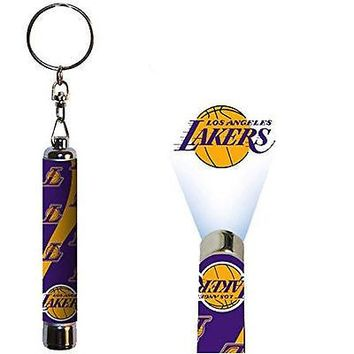 Los Angeles Lakers Official NBA Logo Projection Key Chain by Evergreen 158360