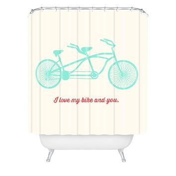 Allyson Johnson My Bike And You Shower Curtain
