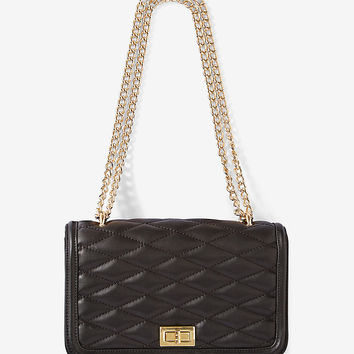 Diamond Quilted Chain Strap Shoulder Bag