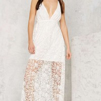 Jonah Burnout Lace Maxi Dress