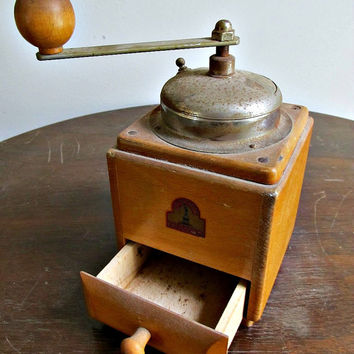 Coffee Grinder - Armin Trosser - German Made - Vintage Rustic Country Farmhouse Kitchen Decor