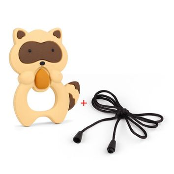 TYRY.HU 1pc Cartoon Pacifier Chain Babay Teething Play Toys Nursing Silicone Teether Necklace Pendant 100*75*15mm Free Shippng