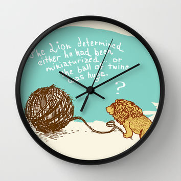 Unethical Mind Experiments on Miniaturized Animals Wall Clock by Eric Fan