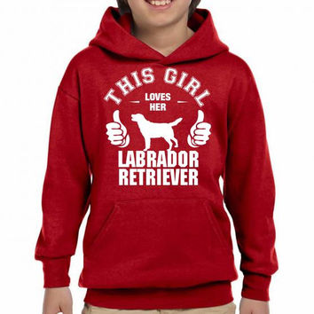 this girl loves her labrador retriever t shirt design 1 Youth Hoodie