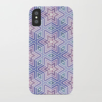 Lavender Maze Pattern iPhone Case by Tanyadraws
