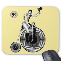 Model T Penny Farthing Classic Monogram Mouse Pad