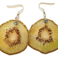 Real Kiwi Earrings