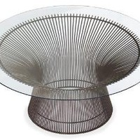 "platner 36"" bronze coffee table"