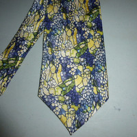 Mens Tiffany Grapevines Silk Tie Necktie The Gallery Collection Stained Glass