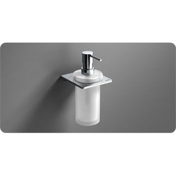 Sonia S-CUBE Wall Mounted Frosted Glass Pump Soap Lotion Dispenser for Bath