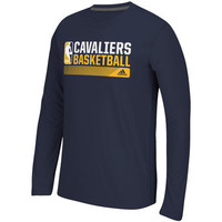 adidas Cleveland Cavaliers Navy Icon Status Ultimate climalite Long Sleeve T-Shirt