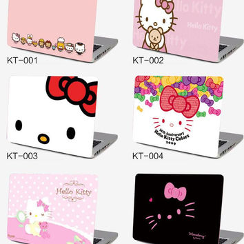 Notebook computer case film 10 15.6  inch computer sticker outside protective cover laptop ipad HELLO KITTY  KT skin Decal