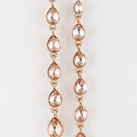 Rhinestone Drop Rose Gold Earrings