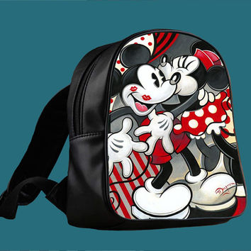 Hugs and Kisses Disney Mickey Minnie mouse for Backpack / Custom Bag / School Bag / Children Bag / Custom School Bag ***