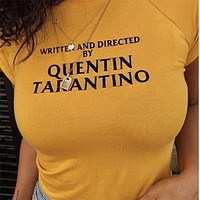 written & directed by QUENTIN TARANTINO tee