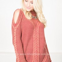 Rustic Rope Knit Sweater