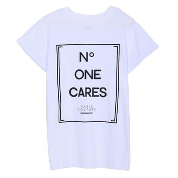 No One Cares Graphic Tees